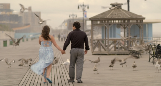 Samantha Elisofon and Brandon Polansky in a scene from <i>Keep the Change</i>, courtesy Kino Lorber